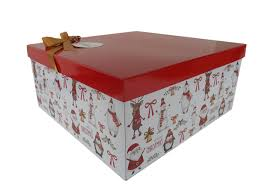 gift box with lid bow and tissue large characters