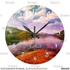 loch lomond in scotland beautiful wall clock everybody u0027s zazzle