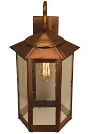 mission style outdoor wall light baja mission style outdoor wall light with bracket copper lantern