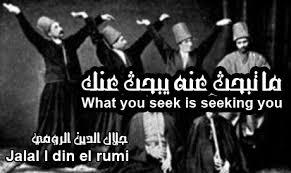 Is Seeking Rumi What You Seek Is Seeking You ما تبحث عنه يبحث عنك