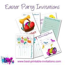 printable easter invitations