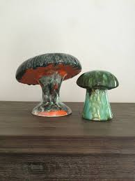 Ceramic Garden Decor Garden Decor Glazed Ceramic Garden Mushrooms Mushroom Decor
