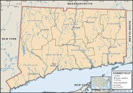 Massachusetts State Map by State And County Maps Of Connecticut
