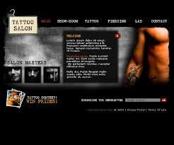 website template 6229 fashion beauty tattoo custom website