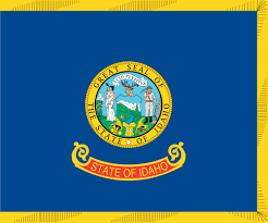 Blue Flag With Yellow Circle Idahoan Flag Flag Of Idaho Us State Us State