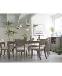 Dining Chairs Grey Tribeca Grey Expandable Dining Furniture 7 Pc Set Dining Table