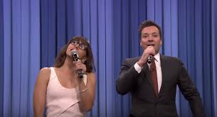 jimmy fallon rashida jones sing versions of the