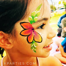 hawaiian face paint nice painting to try