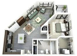 logiciel chambre 3d plan 3d chambre 50 plans en 3d dappartement avec 1 chambres logiciel