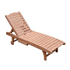 Outdoor Wood Chaise Lounge Outsunny Wooden Chaise Lounge Outdoor Patio Furniture Adjustable W