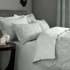 Dunelm Mill Duvets India Grey Reversible Duvet Cover And Pillowcase Set Dunelm