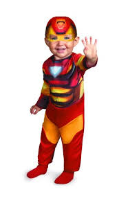 disguise marvel super hero squad iron man infant costume red gold