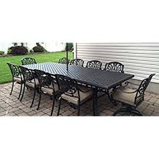 amazon com patio furniture outdoor elisabeth 11 piece dining set