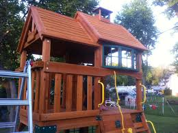 How To Build A Wooden Playset Cedar Summit Playset Or What I Bought With That Advance