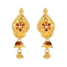 new fashion gold earrings gold earrings karan kothari jewellers