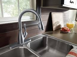 Brushed Nickel Faucet Kitchen by Kitchen Lowes Delta Kitchen Faucet And 1 Lowes Sinks And Faucets