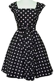 black u0026 pink polka dot swing dress lady vintage