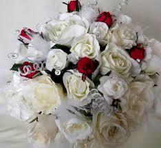 Silk Bridal Bouquets Wedding Flowers Silk Flowers For A Winter Wedding