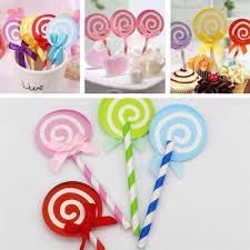 lollipop party favors 2018 wholesale lollipop party cupcake toppers picks