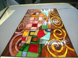 wall arts modern fused glass wall art with silver copper and wall arts large stained glass wall art custom made stained glass windows skylights custom cabinet