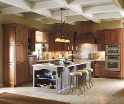 Maple Cabinet Kitchen Cherry Cabinets With Painted Kitchen Island Kemper