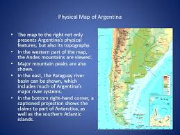 physical map of argentina map analysis by luciano ramirez population argentina contains