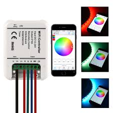 led strip light controller xcsource dc 12 24v ios android wifi remote 5 channels controller