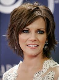 layered hairstyles with bangs for older women