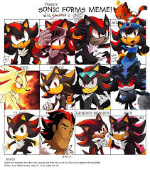 sonic forms meme with shadow by tortaviso on deviantart