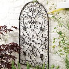 iron trellises for outdoor walls garden wall art trellis