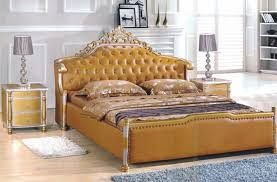 Bedroom Sets From China Aliexpress Com Buy Modern Style King Size Golden Yellow Leather