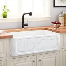 sinks single bowl apron farmhouse sink polished carrara white