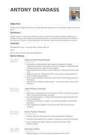 Sales And Marketing Manager Resume Examples by Regional Marketing Manager Resume Samples Visualcv Resume