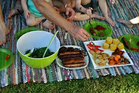 a backyard picnic the little mumma