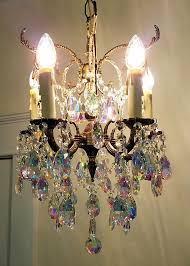 Aurora Chandelier Antique Petite Chandelier Small Crystal Chandelier Aurora