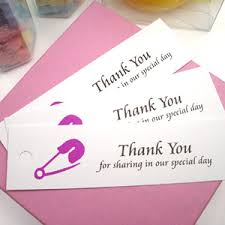 Thank You Favors by Baby Safety Pins Thank You Tags Baby Shower Favors Other