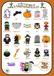 halloween vocabulary for writing language arts pinterest