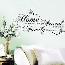 schmetterling sprüche neue 56 107 cm zuhause ist wo wir behandeln freunde wie familie