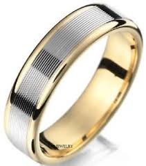 two tone mens wedding band 10k two tone gold mens wedding bands shiny solid gold mens wedding