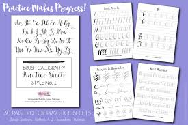 free brush calligraphy practice worksheets dawn nicole designs