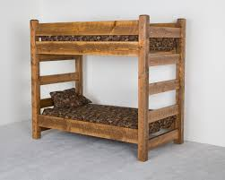 Wooden Bunk Bed With Futon Bedroom Classic Bed Style With Rustic Bunk Beds Ideas