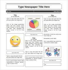 student newspaper template business plan template