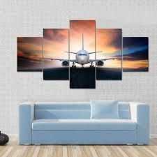 airplane tiaracle air plane preparing to take off canvas panel painting tiaracle
