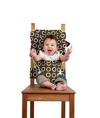 Regalo Portable Booster Activity Chair The Washable And Squashable Travel High Chair In Chocolate Chip