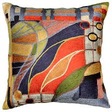 Cushion Covers For Sofa Pillows by Hundertwasser Biomorph Ii Silk Accent Pillow Cover Kashmir Fine
