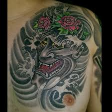hannya mask tattoo black and grey larva star one tattoo artist tattoos by larvastar one