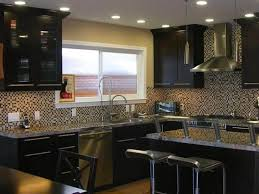 Espresso Kitchen Cabinets Maple Espresso Kitchen Cabinets With Granite Countertops U2014 Home