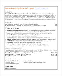 Reading Teacher Resume Basic Teacher Resumes 29 Free Word Pdf Documents Download