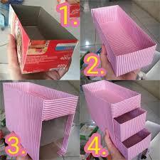 cara membuat lemari buku dari kardus bekas tutorial cara membuat rak make up make up organizer dari kardus