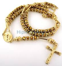 rosary necklaces all gold bling bling rosary necklace hip hop rosary
